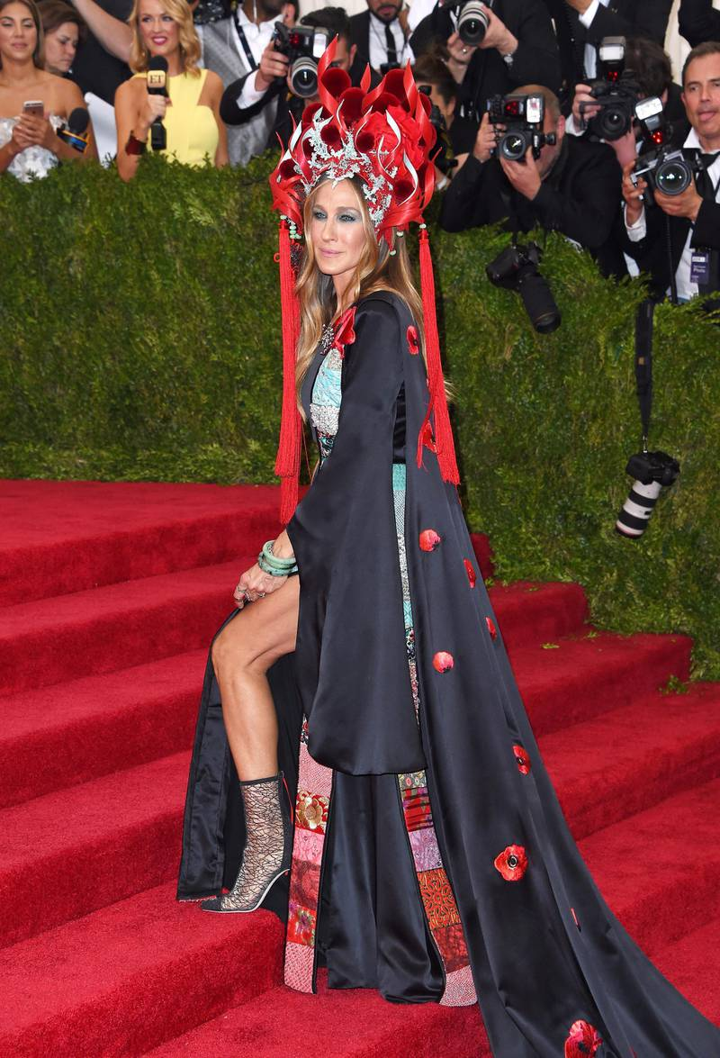 NEW YORK, NY - MAY 04:  Actress Sarah Jessica Parker attends the 'China: Through The Looking Glass' Costume Institute Benefit Gala at the Metropolitan Museum of Art on May 4, 2015 in New York City.  (Photo by Axelle/Bauer-Griffin/FilmMagic)