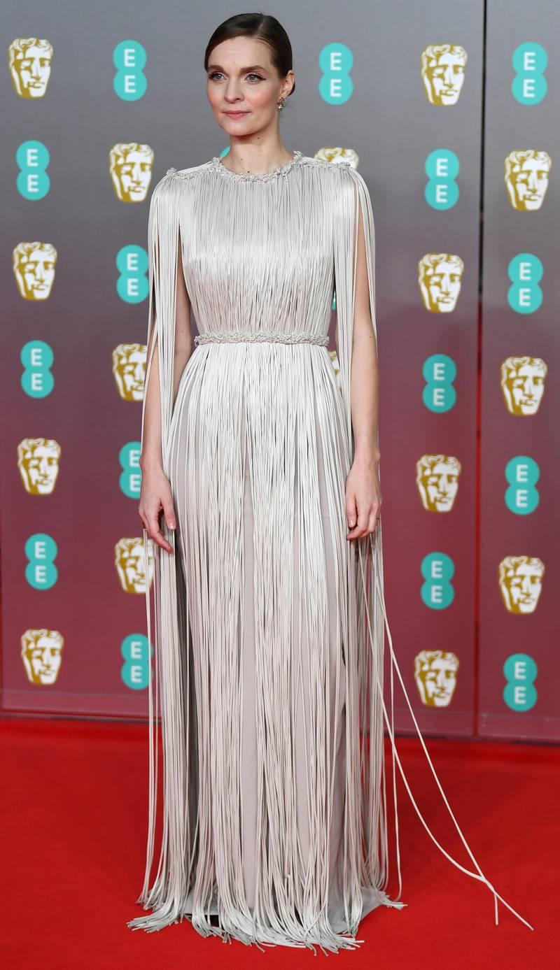 epa08188413 Hildur Gudnadottir attends the 73rd annual British Academy Film Award at the Royal Albert Hall in London, Britain, 02 February 2020. The ceremony is hosted by the British Academy of Film and Television Arts (BAFTA).  EPA-EFE/NEIL HALL