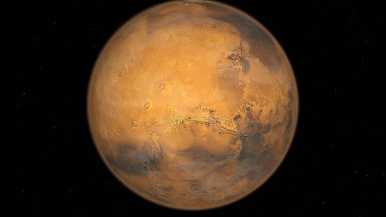 An image that illustrates this article Mars too small to be habitable, study suggests