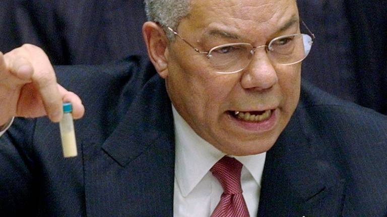 An image that illustrates this article Colin Powell dies from Covid-19 at 84