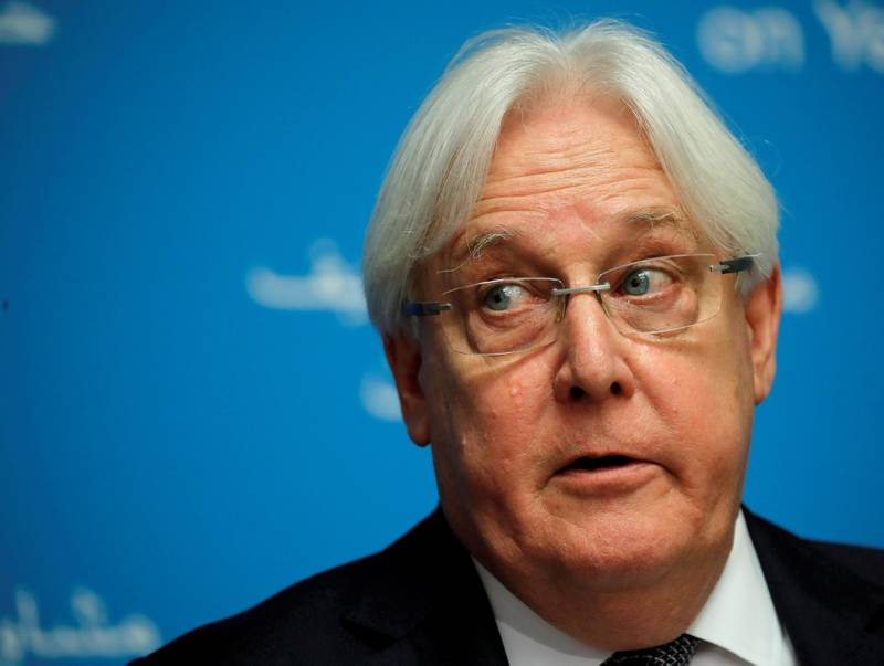 FILE PHOTO: UN envoy Martin Griffiths attends a news conference ahead of Yemen talks at the United Nations in Geneva, Switzerland September 5, 2018. REUTERS/Denis Balibouse/File Photo