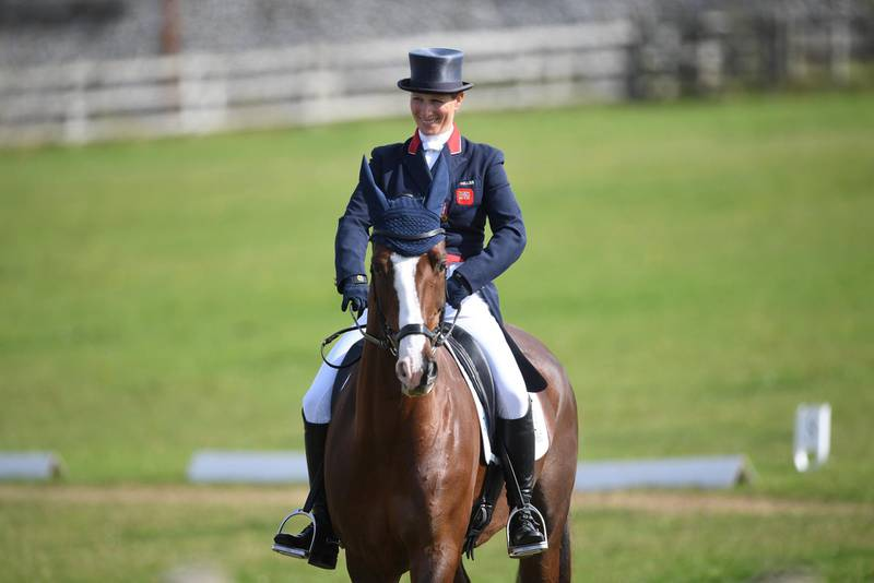 PA via Reuters Zara Tindall on Class Affair competing in the dressage during the Burnham Market International Horse Trials in Norfolk.No Use UK. No Use Ireland. No Use Belgium. No Use France. No Use Germany. No Use Japan. No Use China. No Use Norway. No Use Sweden. No Use Denmark. No Use Holland