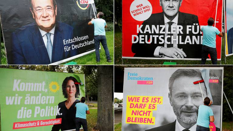 An image that illustrates this article What next for Germany: Scholz and Laschet turn to kingmakers after tight election