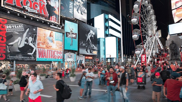 An image that illustrates this article A 30-metre-high Ferris wheel is opening in New York's Times Square