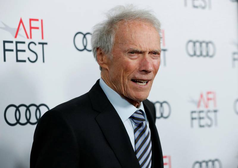 """FILE PHOTO: Director Clint Eastwood poses at the premiere for the movie """"Richard Jewell"""" in Los Angeles, California, U.S., November 20, 2019. REUTERS/Mario Anzuoni/File Photo"""