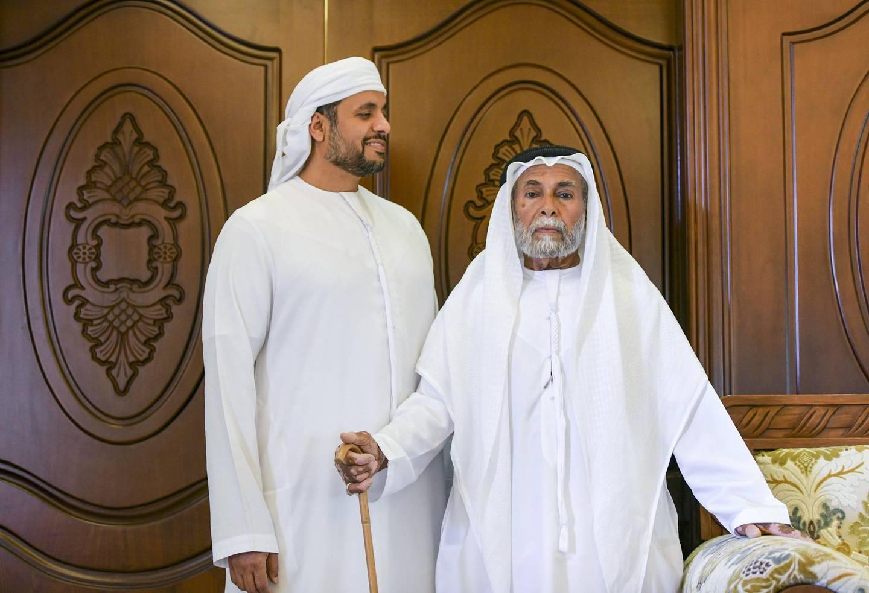 Abu Dhabi, United Arab Emirates - Father and son, Mohamed Buti Al Mazrouei, and Buti Al Mazrouei, at their home in Al Ain. Khushnum Bhandari for The National