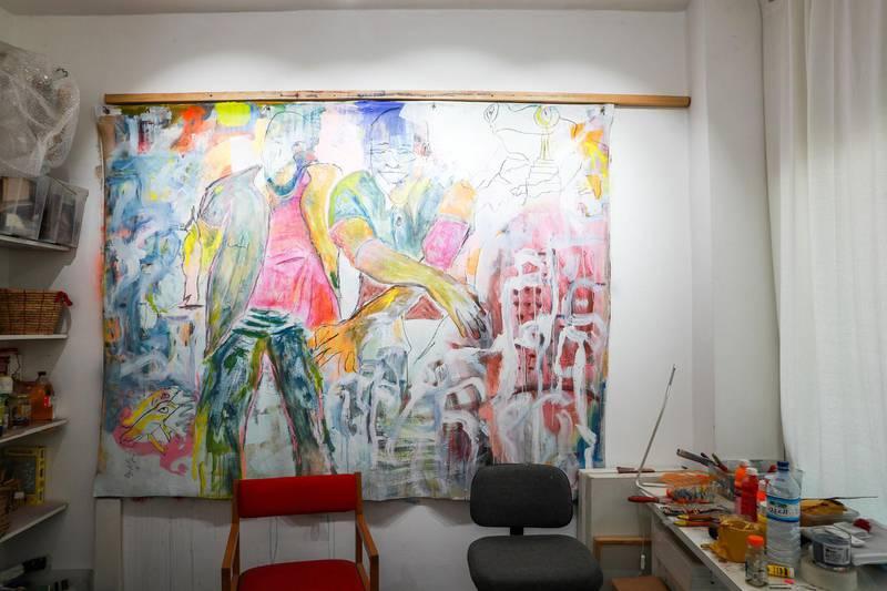 Abu Dhabi, U.A.E., June 6, 2018.    Bait 15 Studio and Art work space.  Victor Besa / The NationalReporter:   Melissa Gronlund  Section:  Arts & Culture
