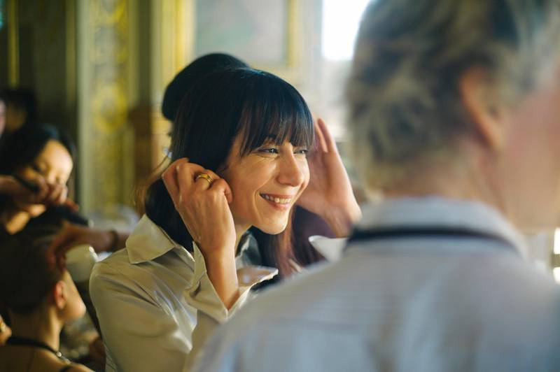 PARIS, FRANCE - SEPTEMBER 28:  Designer Bouchra Jarrar seen backstage prior the Lanvin show as part of the Paris Fashion Week Womenswear  Spring/Summer 2017  on September 28, 2016 in Paris, France.  (Photo by Jonathan Philippe Levy/Getty Images)