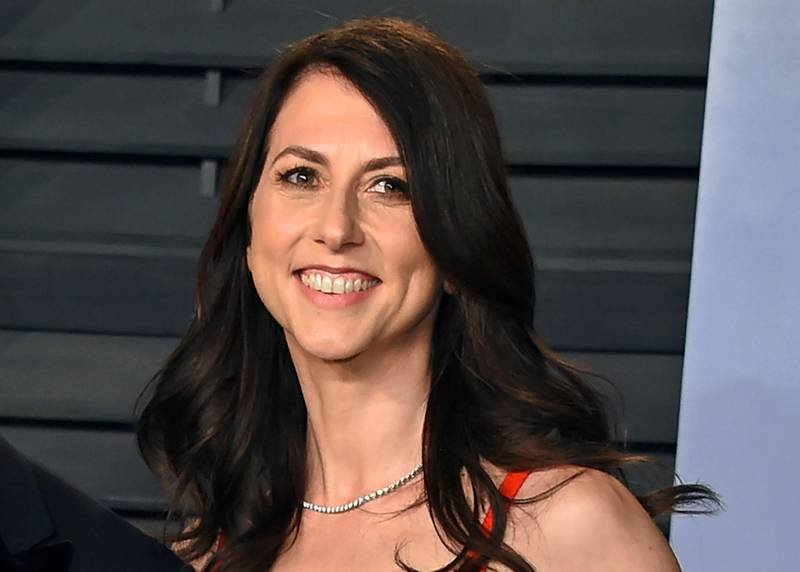 FILE - In this March 4, 2018 file photo, then-MacKenzie Bezos arrives at the Vanity Fair Oscar Party in Beverly Hills, Calif. A donation from author and philanthropist MacKenzie Scott to Virginia State University has become the largest single donor gift in the historically Black college's history. The $30 million donation by Scott was announced Tuesday, Dec. 15, 2020, in a post that detailed the nearly $4.2 billion in gifts given to nonprofit organizations by the philanthropist in 2020. (Photo by Evan Agostini/Invision/AP, File)