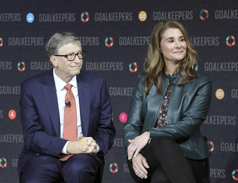 (FILES) In this file photo taken on September 26, 2018 Bill Gates and his wife Melinda Gates introduce the Goalkeepers event at the Lincoln Center in New York. The Bill & Melinda Gates Foundation pledged on February 5, 2020 to commit up to $100 million for the global response to the novel coronavirus epidemic that has claimed nearly 500 lives. The funding will be used to strengthen detection, isolation and treatment efforts, the foundation said, including protecting at-risk populations and developing vaccines and diagnostics.  / AFP / Ludovic MARIN