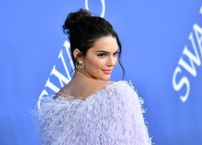 US model Kendall Jenner arrives at the 2018 CFDA Fashion awards June 4, 2018 at The Brooklyn Museum in New York.  / AFP / ANGELA WEISS