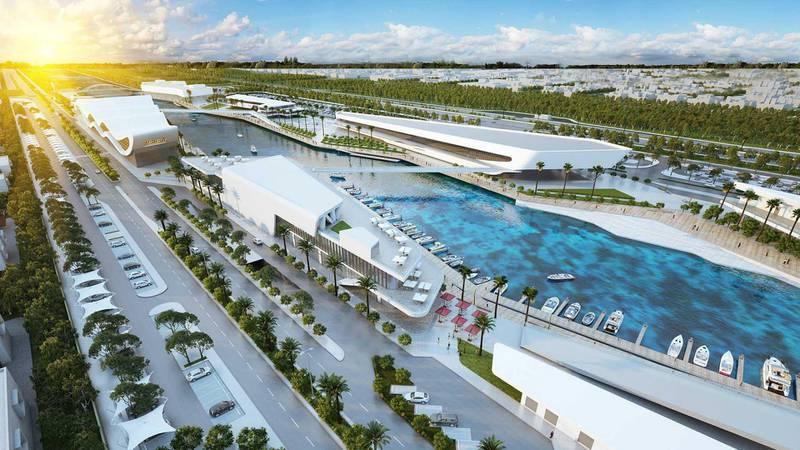 Al Qana - Block K and C. Courtesy Department of Urban Planning and Municipalities and Al Barakah International Investment