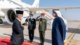 King of Malaysia arrives in UAE for three-day visit