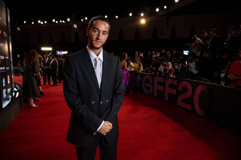 """Egyptian actor Ahmed Malek arrives at the opening ceremony of 4th edition of El Gouna Film Festival, in the Egyptian Red Sea resort of el Gouna on October 23, 2020. XGTY / RESTRICTED TO EDITORIAL USE - MANDATORY CREDIT """"AFP PHOTO / EL GOUNA FILM FESTIVAL / Ammar Abd Rabbo - NO MARKETING NO ADVERTISING CAMPAIGNS - DISTRIBUTED AS A SERVICE TO CLIENTS -  / AFP / El Gouna Film Festival / Ammar Abd RABBO / XGTY / RESTRICTED TO EDITORIAL USE - MANDATORY CREDIT """"AFP PHOTO / EL GOUNA FILM FESTIVAL / Ammar Abd Rabbo - NO MARKETING NO ADVERTISING CAMPAIGNS - DISTRIBUTED AS A SERVICE TO CLIENTS -"""