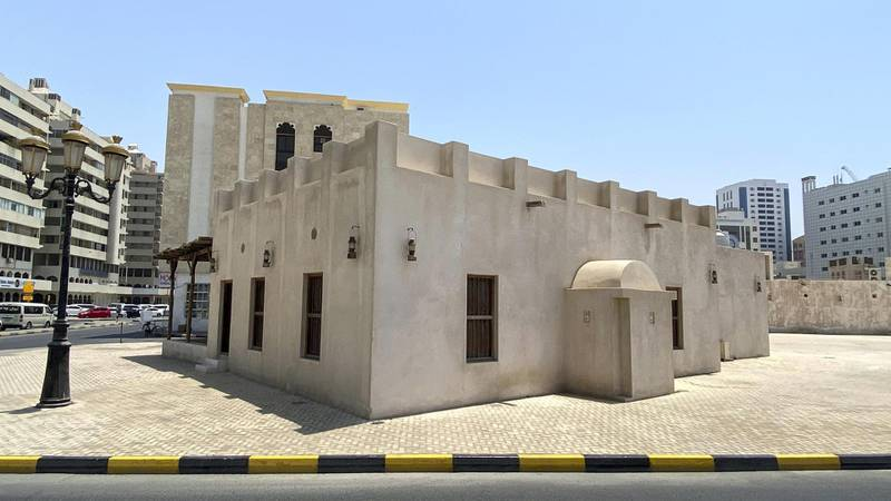Alshoyoukh Mosque-SHJMosque Profile. Alshoyoukh Mosque in Sharjah is considered one of its oldest mosques in the Emirate. Photographed in the historic Al Hosn area of Sharjah on April 22, 2021.Antonie Robertson / The National.Reporter: Salam Al Amir for National