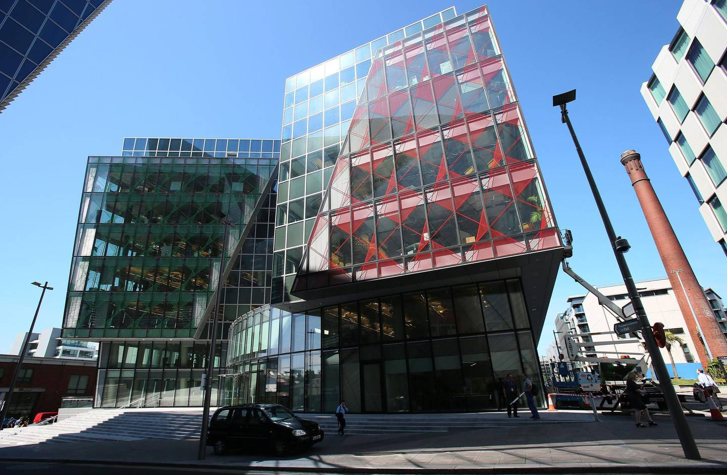 Facebook's offices in Dublin's Grand Canal Square, Docklands.   (Photo by Brian Lawless/PA Images via Getty Images)