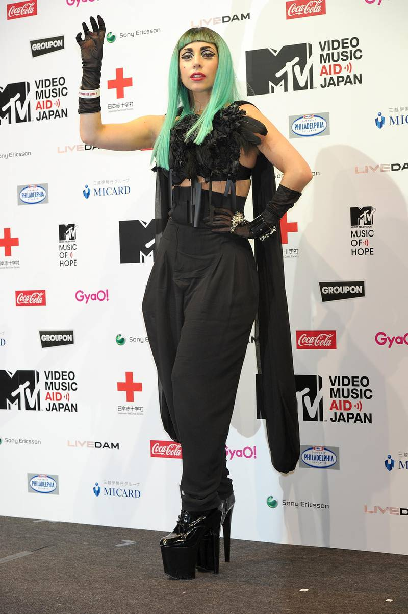 TOKYO, JAPAN - JUNE 23:  Lady Gaga attends the MTV Video Music Aid Japan Press Conference at Billboard Live Tokyo on June 23, 2011 in Tokyo, Japan.  (Photo by Koki Nagahama/Getty Images)