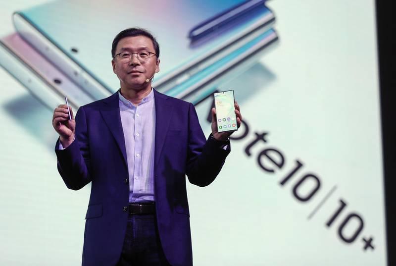 Dubai, United Arab Emirates, August 27, 2019.  Samsung Galaxy Note 10 Launch. --  Chung Lyong Lee, President Samsung Gulf Electronics.Victor Besa/The NationalSection:  BZReporter:  Alkesh Sharma