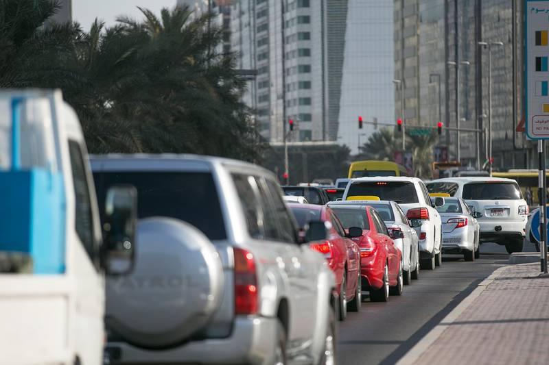 Abu Dhabi, United Arab Emirates. November 26, 2014///Abu Dhabi traffic stock images. Abu Dhabi, United Arab Emirates. Mona Al Marzooqi/ The National Section: National