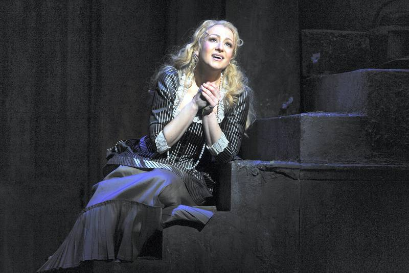 LONDON, ENGLAND - APRIL 08:Irina Lungu as Marguerite in The Royal Opera's production of Charles-Francois Gounod's Faust directed by David McVicar and conducted by Dan Ettinger at The Royal Opera House on April 6, 2019 in London, England. (Photo by Robbie Jack/Corbis via Getty Images)