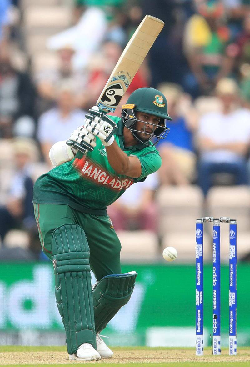 File photo dated 24-06-2019 of Bangladesh's Shakib Al Hasan. PRESS ASSOCIATION Photo. Issue date: Tuesday October 29, 2019. Bangladesh captain Shakib Al Hasan has been banned from all cricket for two years, one of them suspended, after admitting three charges under the anti-corruption code, the International Cricket Council has announced. See PA story CRICKET Corruption. Photo credit should read Adam Davy/PA Wire