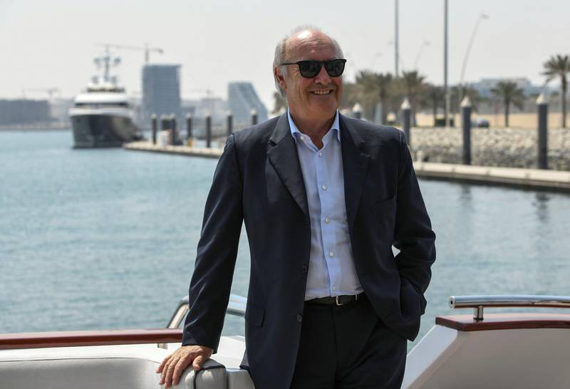 Abu Dhabi, United Arab Emirates - Rudi S. K. Jagersbacher, President for Middle East, Africa, & Turkey at the Hilton Group on the Tour of Yas Bay. Khushnum Bhandari for The National
