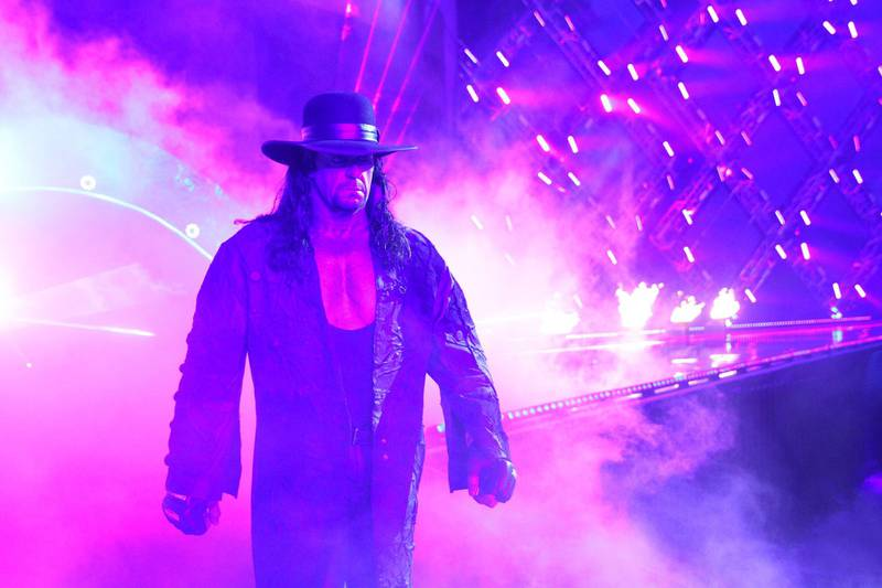 The Undertaker fought for the first time in more than a year on Sunday at WrestleMania 34. Courtesy WWE