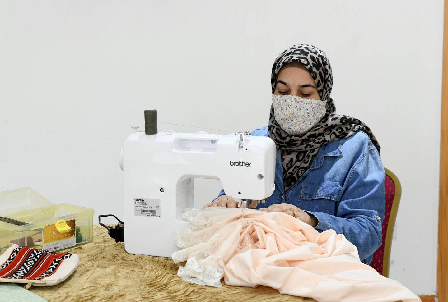 Lotus Training Centre-AD Samaher Al Mohammed, has learnt sewing, as well as, enrolled her children at the Lotus Holistic Retal Training Centre in the capital on June 20, 2021. Khushnum Bhandari/ The National Reporter: Haneen Dajani News