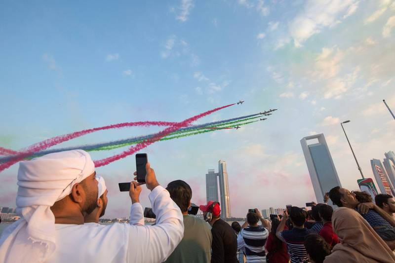 Abu Dhabi, United Arab Emirates - at Abu Dhabi Corniche, Breakwater.  Leslie Pableo for The National