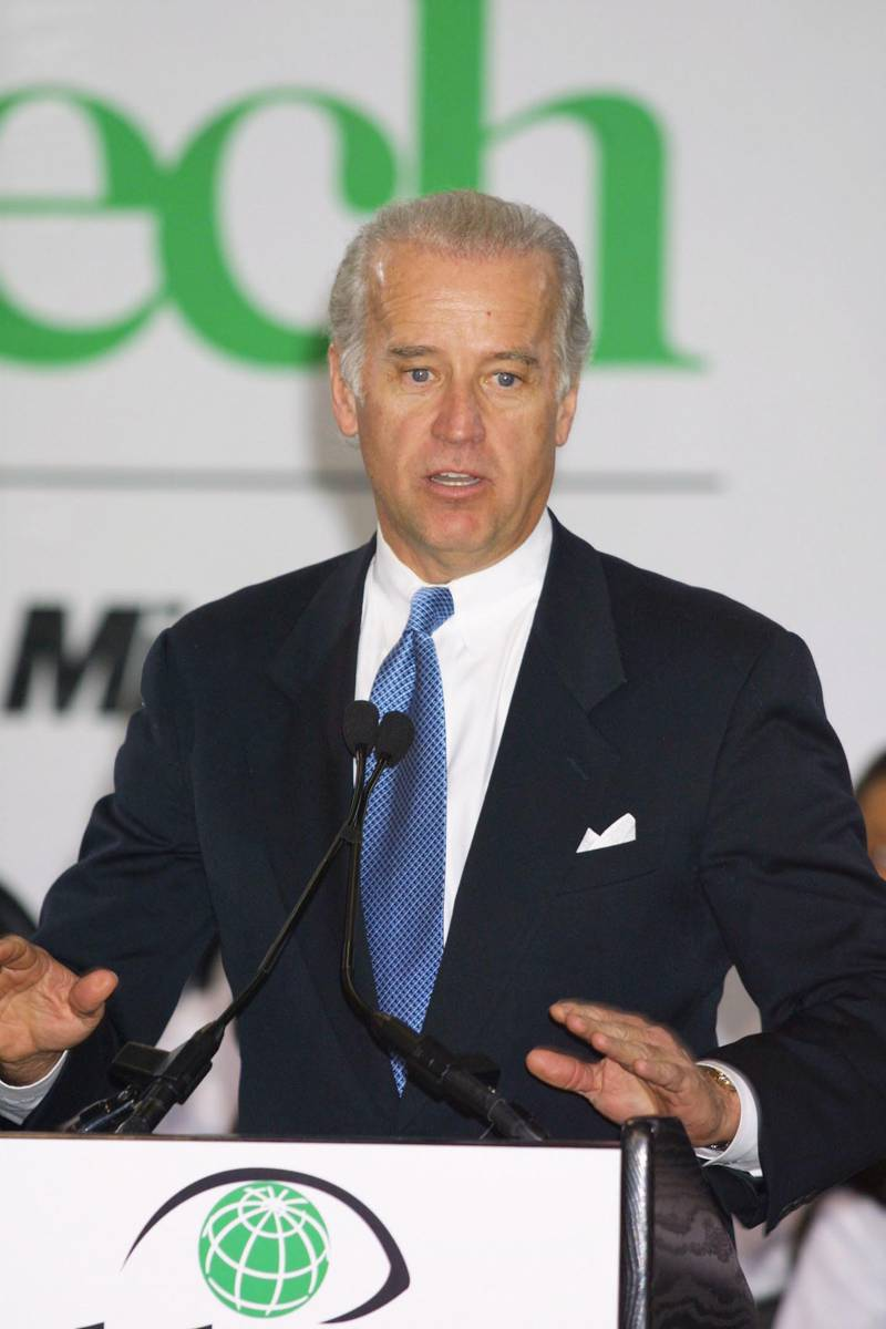382819 05: U.S. Senator Joseph Biden (D-DE) voices his support for Microsoft Corp.''s announcement of a $100 million donation in cash and software to the Boys & Girls Clubs of America December 4, 2000 at the Microsoft announcement event in the gymnasium of a Harlem Boys & Girls Club in New York City. (Photo by George De Sota/Newsmakers)