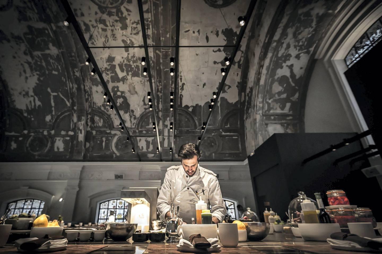 Chef Sergio Herman at The Jane. Photo by Eric Kleinberg