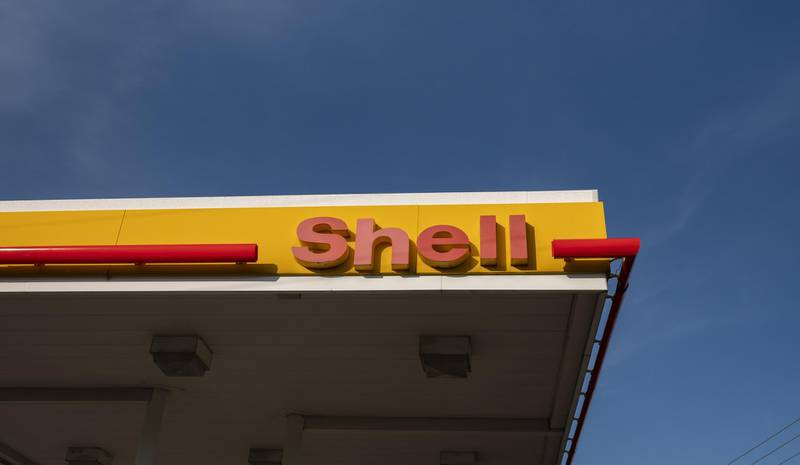 Signage is displayed at a Royal Dutch Shell gas station in Crestwood, Kentucky, U.S., on Monday, April 27, 2020. Royal Dutch Shell is scheduled to release earnings figures on April 30. Photographer: Stacie Scott/Bloomberg