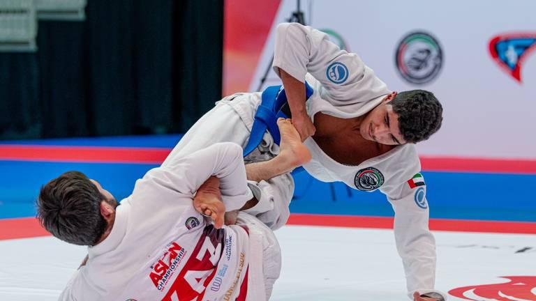 An image that illustrates this article Al Nuaimi and Al Ameri strike gold for UAE at Jiu-Jitsu Asian Championship