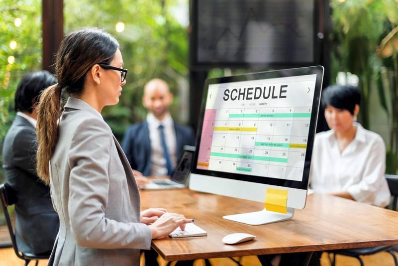 HMJRDM Schedule Table Event Planner Concept