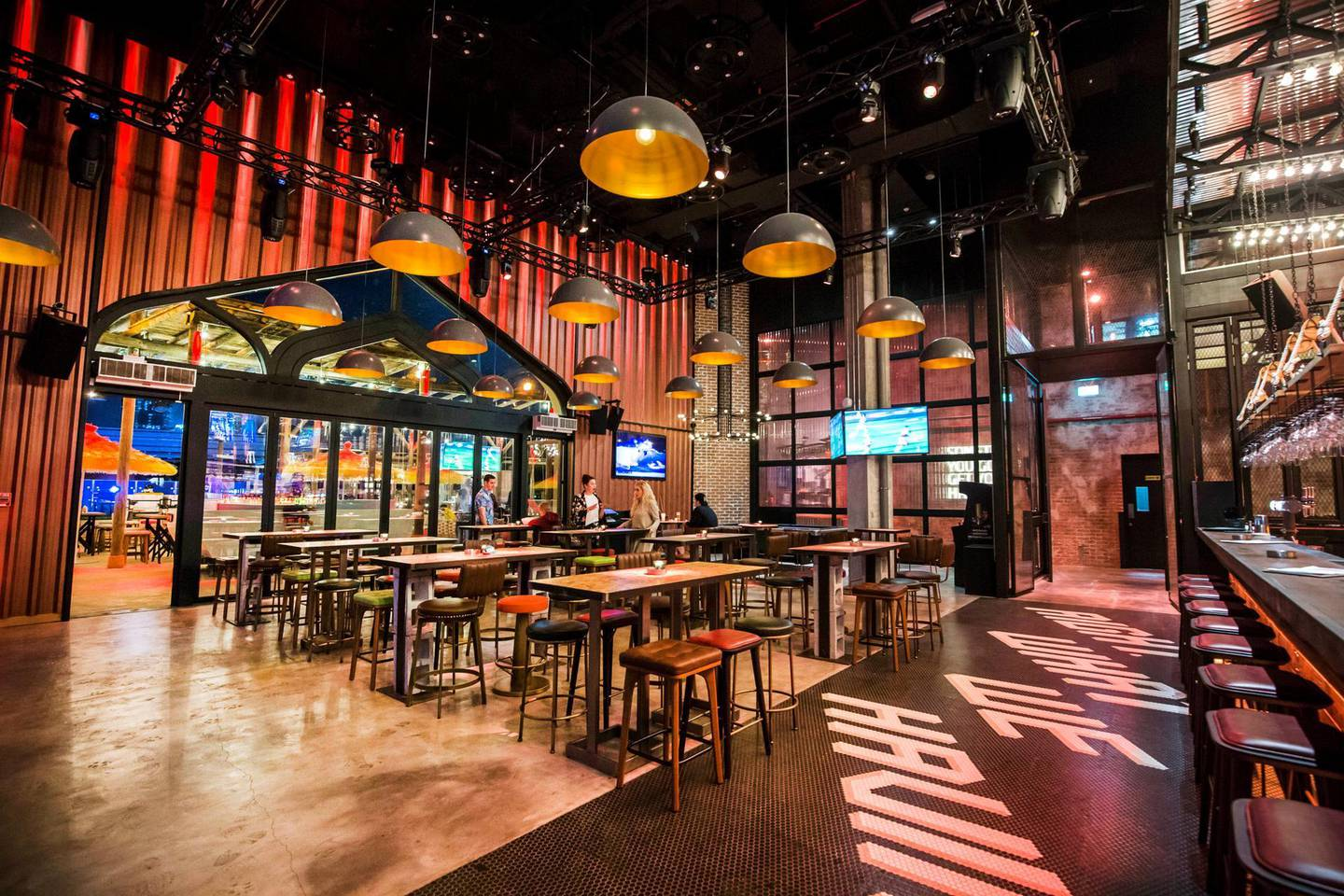 DUBAI, UNITED ARAB EMIRATES - A bar at a preview of new entertainment complex, Warehouse at Atlantis The Palm Dubai.  Leslie Pableo for The National for Katy Gillett's story