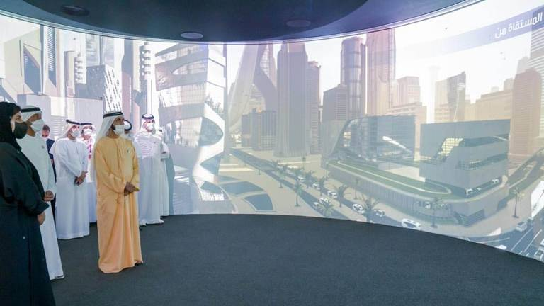 An image that illustrates this article Sheikh Mohammed bin Rashid visits Emirates, Egypt and Swiss Expo 2020 pavilions - in pictures