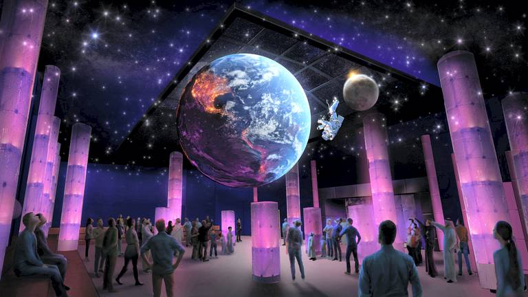 An image that illustrates this article Moon rock and Mars meteorite at Expo 2020 Dubai space show