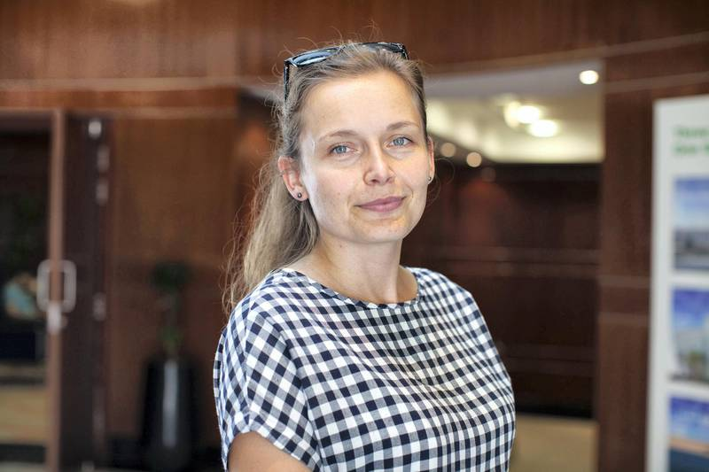 09.09.17. Dorotea Lewna one of the four founding members of Bogleheads in Dubai.  Anna Nielsen For The National.