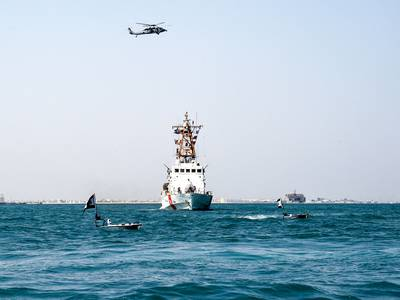 Bahrain and US navies take part in joint drills in the Arabian Gulf - in pictures