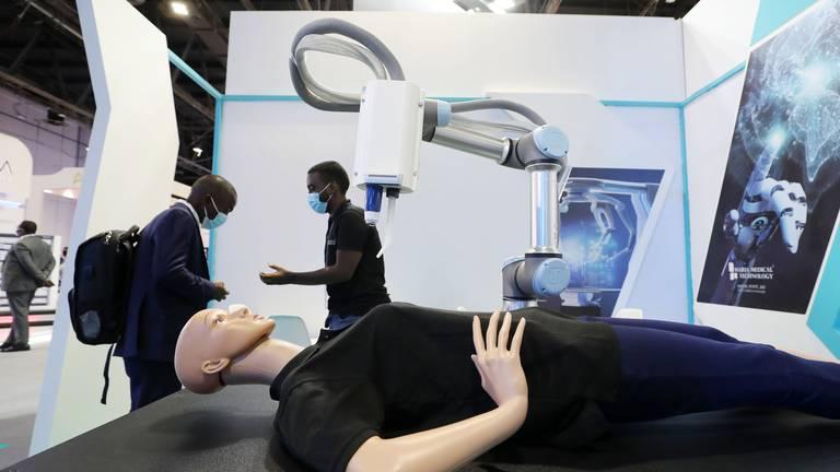 An image that illustrates this article Gitex 2021: laser-sharp Sharjah company uses AI robots