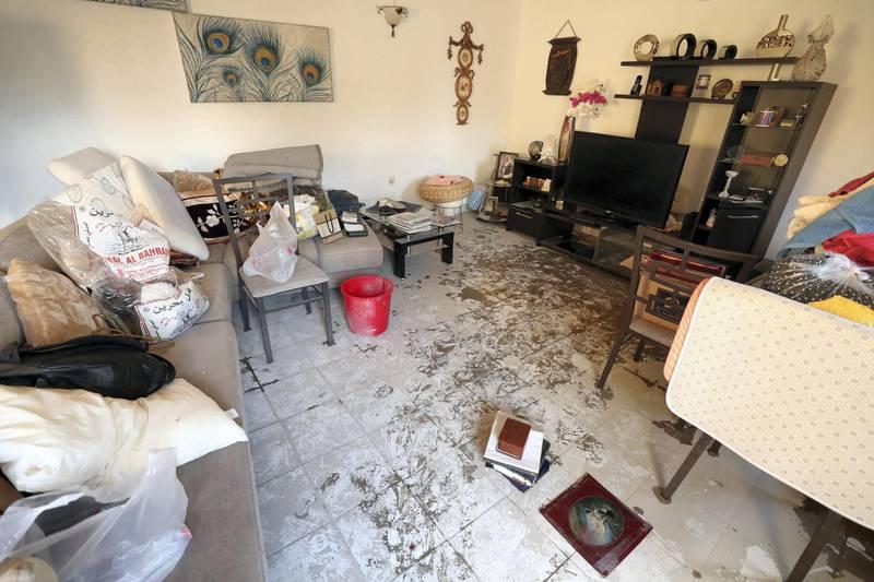 Dubai, United Arab Emirates - Reporter: Nick Webster: The damage to Taleb Hashim's villa on Street 4A. Flooding in Rashidiya area of Dubai. Monday, January 13th, 2020. Rashidiya, Dubai. Chris Whiteoak / The National