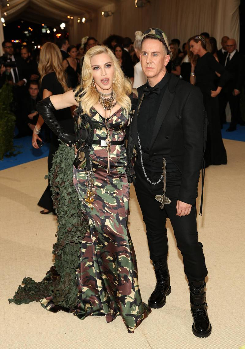 epa05939869 Madonna and Jeremy Scott arrive on the red carpet for the Metropolitan Museum of Art Costume Institute's benefit celebrating the opening of the exhibit 'Rei Kawakubo/Comme des Garons: Art of the In-Between' in New York, New York, USA, 01 May 2017. The exhibit will be on view at the Metropolitan Museum of Art's Costume Institute from 04 May to 04 September 2017.  EPA/JUSTIN LANE