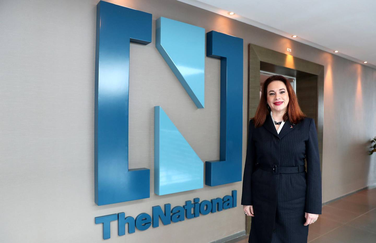 ABU DHABI , UNITED ARAB EMIRATES , February 11 – 2019 :- María Fernanda Espinosa , President of UN General Assembly during her visit at The National office in Twofour54 building 6 in Abu Dhabi.  ( Pawan Singh / The National ) For News/Instagram