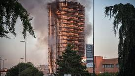 Residents moved to safety as flames consume high-rise in Milan