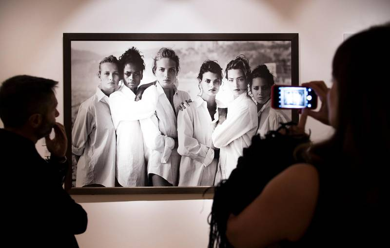 TURIN, ITALY - OCTOBER 06:  Guests attend the opening gala of 'A Different Vision On Fashion Photography' By Peter Lindbergh Exhibition at Reggia di Venaria Reale on October 6, 2017 in Turin, Italy.  (Photo by Giorgio Perottino/Getty Images)
