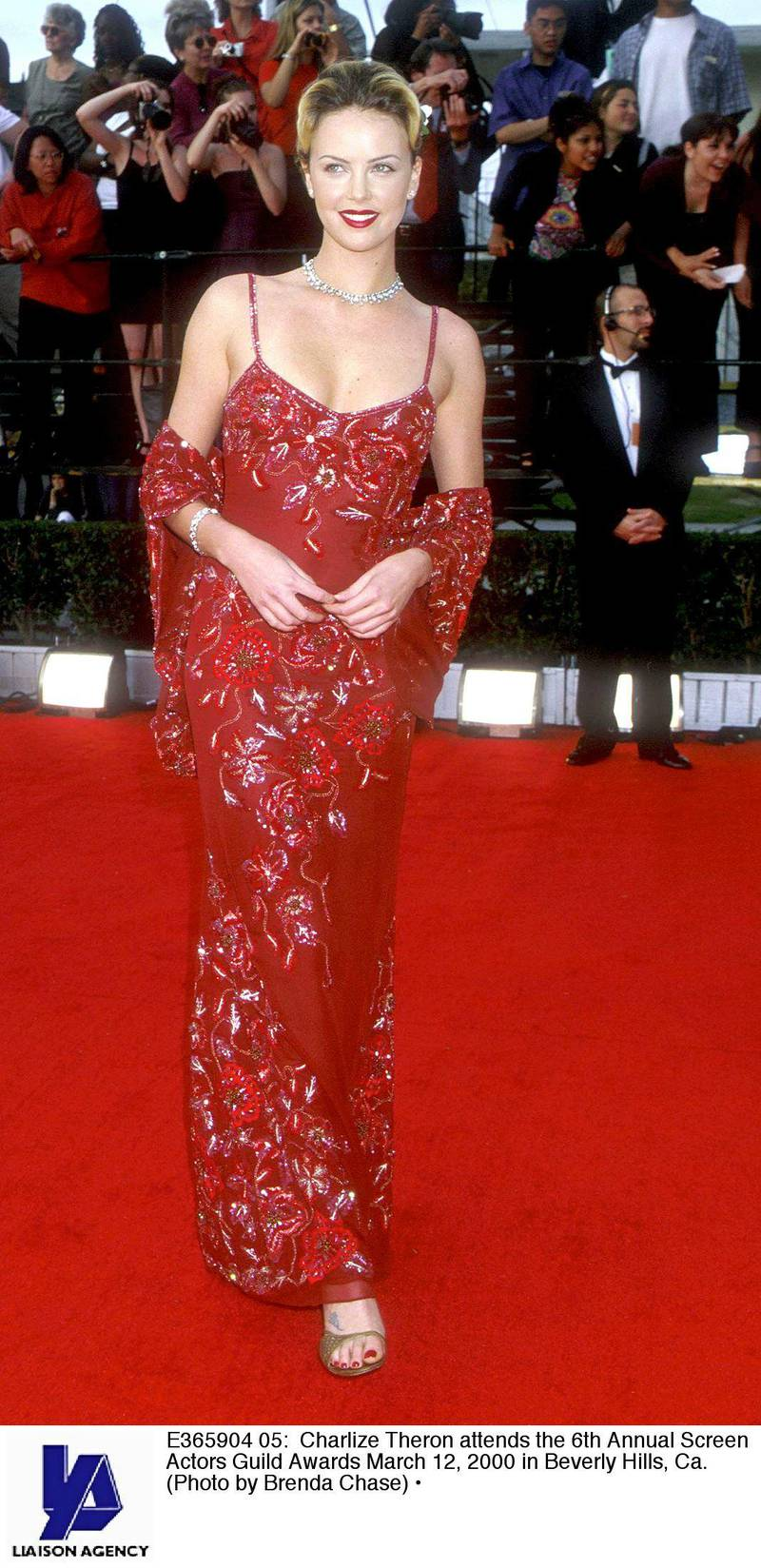 E365904 05: Charlize Theron attends the 6th Annual Screen Actors Guild Awards March 12, 2000 in Beverly Hills, Ca. (Photo by Brenda Chase)