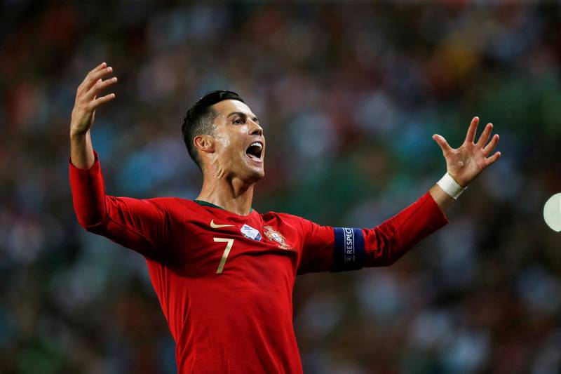 Soccer Football - Euro 2020 Qualifier - Group B - Portugal v Luxembourg - Estadio Jose Alvalade, Lisbon, Portugal - October 11, 2019  Portugal's Cristiano Ronaldo reacts  REUTERS/Rafael Marchante     TPX IMAGES OF THE DAY