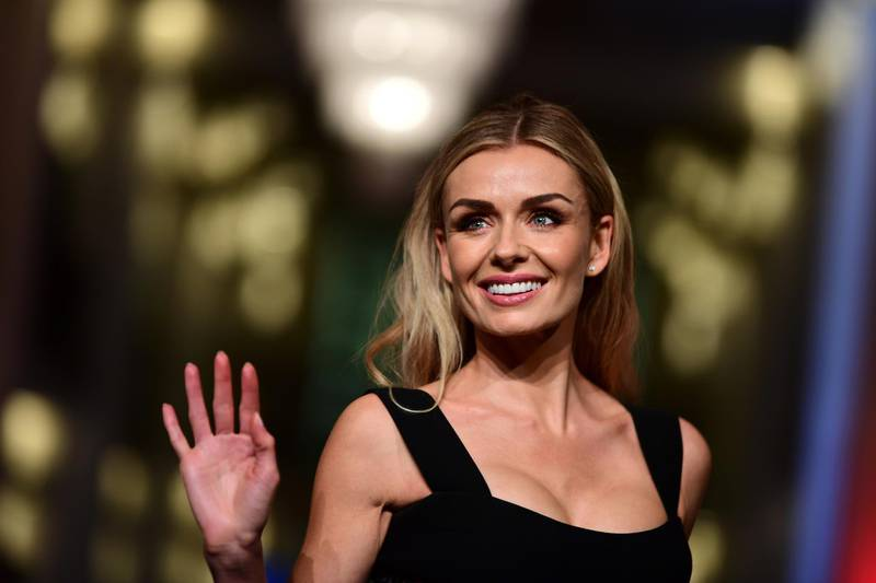 epa08235649 Katherine Jenkins arrives for the premiere of 'Minamata' during the 70th annual Berlin International Film Festival (Berlinale), in Berlin, Germany, 21 February 2020. The movie is presented in the Berlinale Special section at the Berlinale that runs from 20 February to 01 March 2020.  EPA/CLEMENS BILAN