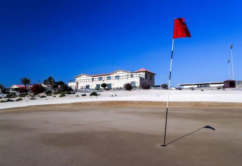 Abu Dhabi, U.A.E., January 15, 2018.  Al Ghazal Golf Course.  The first sand golf course in the UAE.Victor Besa / The NationalNAReporter:  John Dennehy