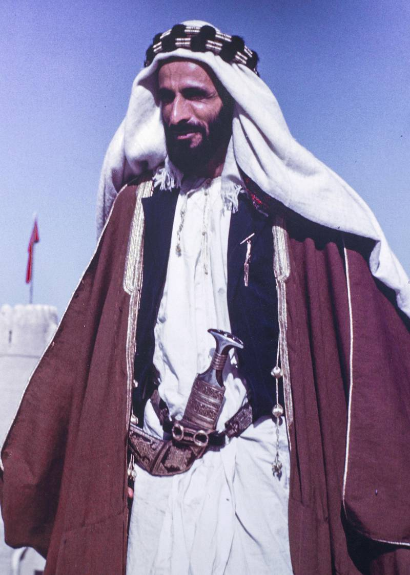 Sheikh Shakhbut's fashion exhibited here show his refined taste, with simple garments and accessories that he was known to favour like the sunglasses and the pocket watch.